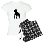 Pit Bull Terrier Silhouette Women's Light Pajamas