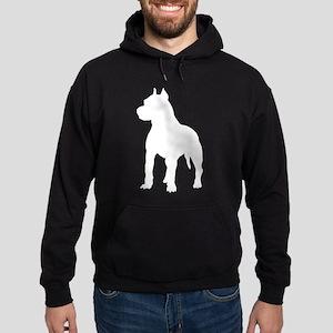 Pit Bull Terrier Silhouette Hoodie (dark)