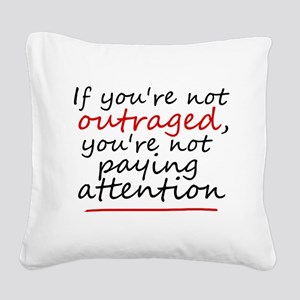 'Outraged' Square Canvas Pillow