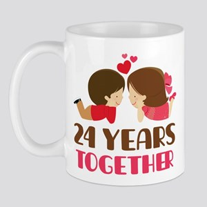 24 Years Together Anniversary Mug