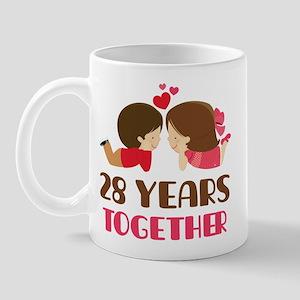28 Years Together Anniversary Mug