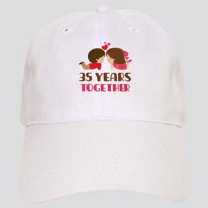 35 Years Together Anniversary Cap