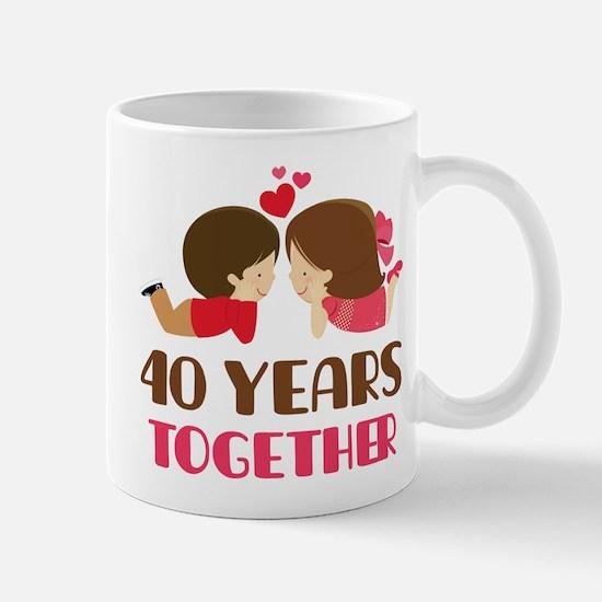 40 Years Together Anniversary Mug Mugs
