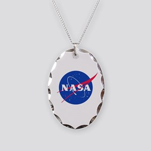 NASA Necklace Oval Charm