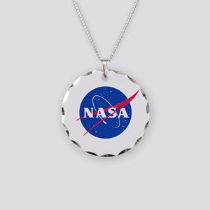NASA Necklace Circle Charm