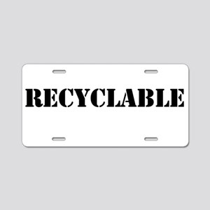 Recyclable Aluminum License Plate