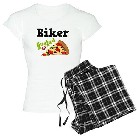 Biker Funny Pizza Women's Light Pajamas