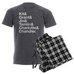 Brightling Characters - White Men's Charcoal Pajam