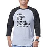 Brightling Characters - Black Font Men's Baseball
