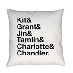 Brightling Characters - Black Font Everyday Pillow
