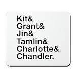Brightling Characters - Black Font Mousepad