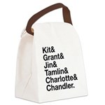 Brightling Characters - Black Font Canvas Lunch Ba