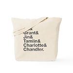 Brightling Characters - Black Font Tote Bag