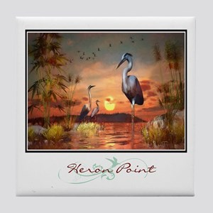 Heron Point Tile Coaster