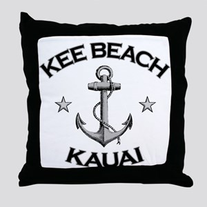 Kee Beach, Kauai, Hawaii Throw Pillow
