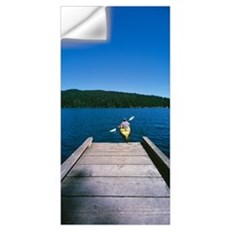 Kayaker on a lake, Mountain Lake, Orcas, Washingto Wall Decal