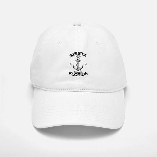 Siesta Beach, Sarasota, FL Baseball Baseball Cap