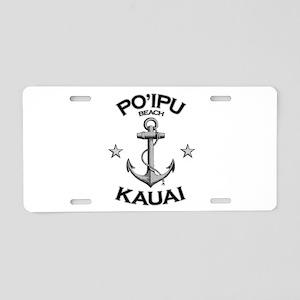 Po'ipu Beach, Kauai, Hawaii Aluminum License Plate