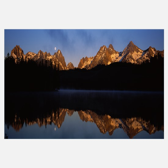 Reflection of mountains on water, Sawtooth Mountai