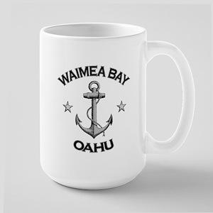 Waimea Bay, Oahu, Hawaii Large Mug
