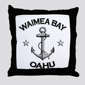 Waimea Bay, Oahu, Hawaii Throw Pillow
