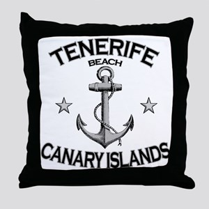 Tenerife Beach, Canary Islands Throw Pillow