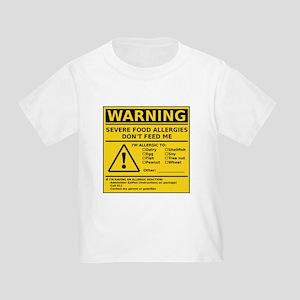 Toddler T-Shirt (Multiple Allergies)