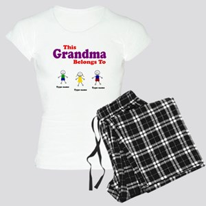 Personalized Grandma 3 kids Women's Light Pajamas