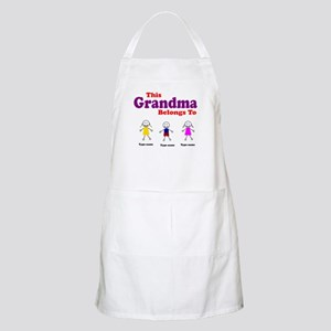 Personalized Grandma 3 kids Apron