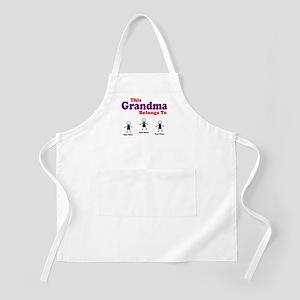 Personalized Grandma 3 kids Apron