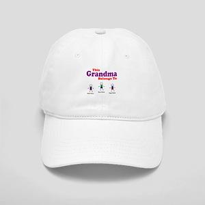 Personalized Grandma 3 kids Cap