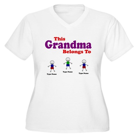 Camicia Da Notte Della Nonna Personalizzato 3 Bambini Donna OFtAF5