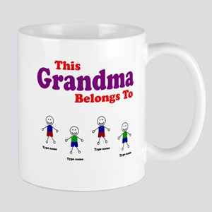 Personalized Grandma 4 boys Mug
