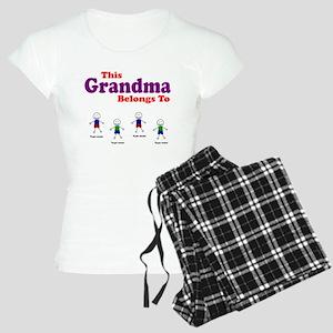 Personalized Grandma 4 boys Women's Light Pajamas