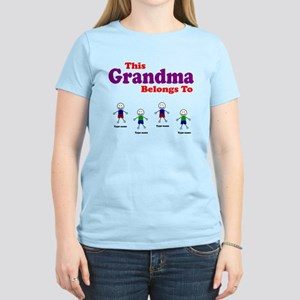 Personalized Grandma 4 boys Women's Light T-Shirt