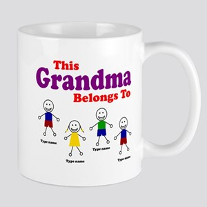 Personalized Grandma 4 kids Mug