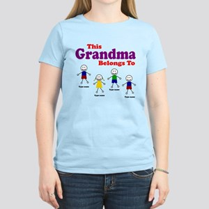 Personalized Grandma 4 kids Women's Light T-Shirt