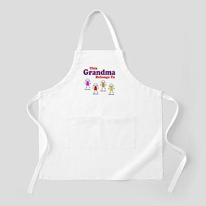 Personalized Grandma 4 girls Apron