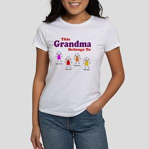 Personalized Grandma 4 girls Women's T-Shirt