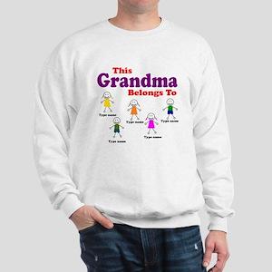 Personalized Grandma 5 kids Sweatshirt