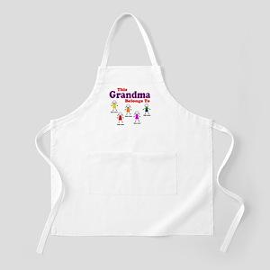 Personalized Grandma 5 kids Apron