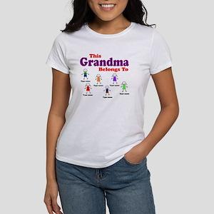 Personalized Grandma 6 kids Women's T-Shirt