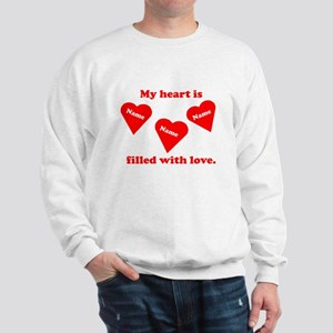 Personalized My Heart Filled Sweatshirt