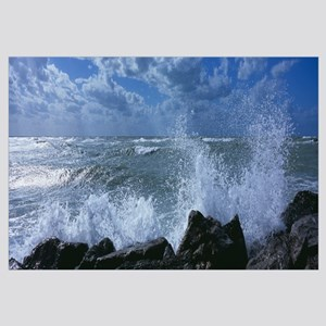 Waves breaking on rocks, Gulf of Mexico, Venice, F
