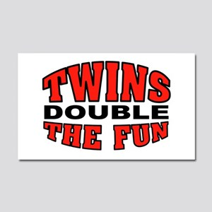 DOUBLE FUN Car Magnet 20 x 12