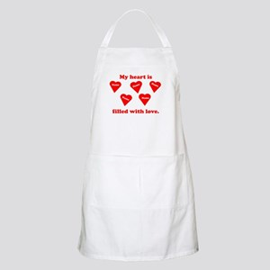 Personalized My Heart Filled Apron