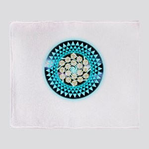 Metatrons Cube Crop-Circle Throw Blanket