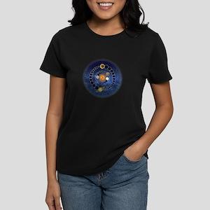 Two Mayan Calendar Endings Women's Dark T-Shirt
