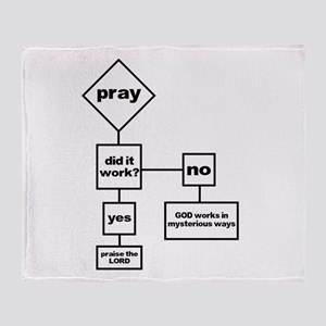 Prayer Flow Chart Throw Blanket