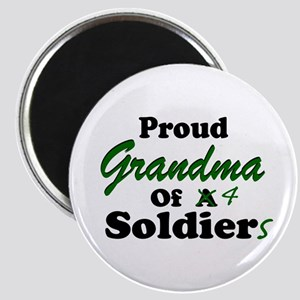 Proud Grandma 4 Soldiers Magnet